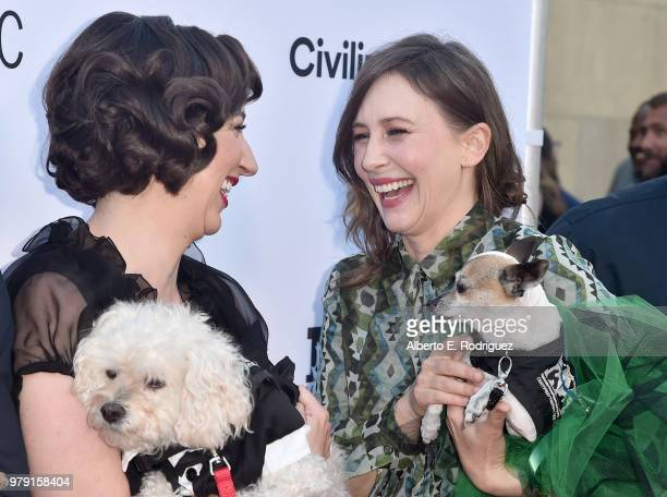 Actors Kristen Schaal and Vera Farmiga attend the premiere of Sony Pictures Classics' 'Boundries' at American Cinematheque's Egyptian Theatre on June...