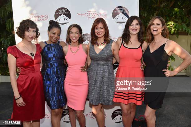 Actors Kristen Schaal Tymberlee Hill Danielle Schneider Dannah Feinglass Phirman Casey Wilson and Andrea Savage arrive to the premiere of Hulu's The...