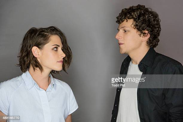 Actors Kristen Stewart and Jesse Eisenberg are photographed for USA Today on August 9 2015 in New York City PUBLISHED IMAGE