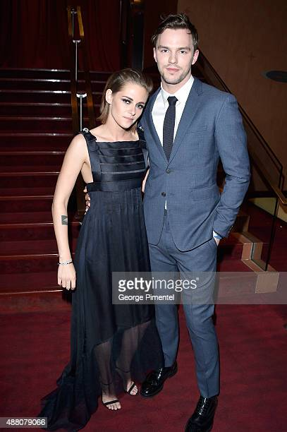 Actors Kristen Stewart and Nicholas Hoult attend the 'Equals' premiere during the 2015 Toronto International Film Festival at the Princess of Wales...
