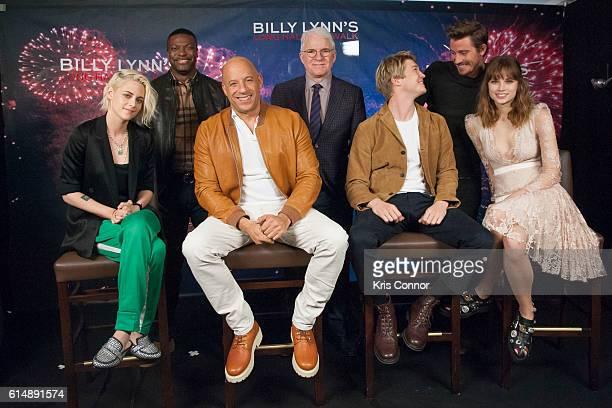 Actors Kristen Stewart Chris Tucker Vin Diesel Steve Martin Joe Alwyn Garrett Hedlund and Makenzie Leigh attend the Billy Lynn's Long Halftime Walk...