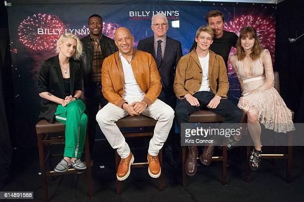 Actors Kristen Stewart Chris Tucker Vin Diesel Steve Martin Joe Alwyn Garrett Hedlund and Makenzie Leigh attend the 'Billy Lynn's Long Halftime Walk'...
