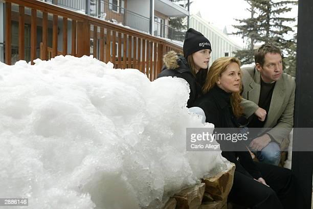 Actors Kristen Stewart DB Sweeney and Elizabeth Perkins of the film 'Speak' pose for portraits during the 2004 Sundance Film Festival on January 20...