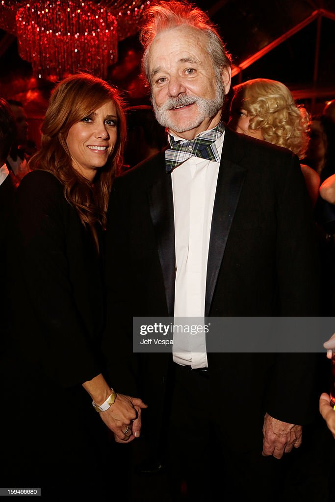 Actors Kristen Wiig and Bill Murray attend the The Weinstein Company's 2013 Golden Globe Awards after party presented by Chopard, HP, Laura Mercier, Lexus, Marie Claire, and Yucaipa Films held at The Old Trader Vic's at The Beverly Hilton Hotel on January 13, 2013 in Beverly Hills, California.