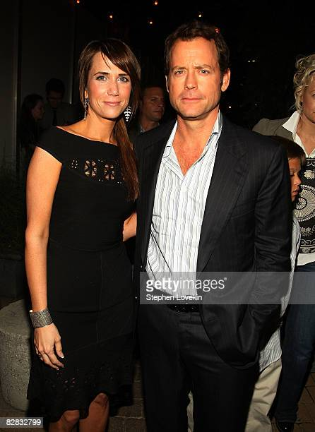 "Actors Kristen Wiig and Greg Kinnear attend the after party for ""Ghost Town"" hosted by The Cinema Society at The Soho Grand Hotel on September 15,..."