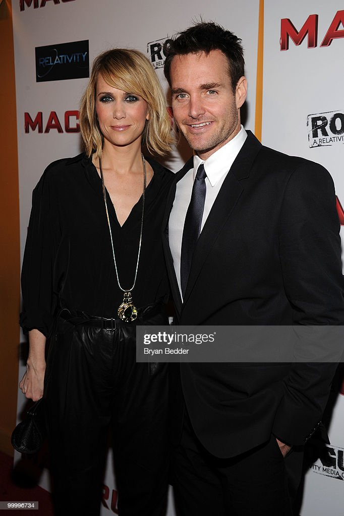 Actors Kristen Wiig and Will Forte attend the premiere of 'MacGruber' at Landmark's Sunshine Cinema on May 19, 2010 in New York City.