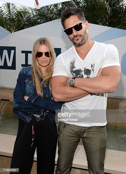 Actors Kristin Bauer van Straten and Joe Manganiello attend day 2 of the WIRED Cafe at ComicCon on July 19 2013 in San Diego California