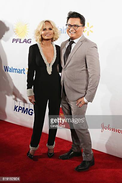 Actors Kristin Chenoweth and Alec Mapa attend PFLAG National's Eighth Annual Straight for Equality Awards Gala at The New York Marriott Marquis on...