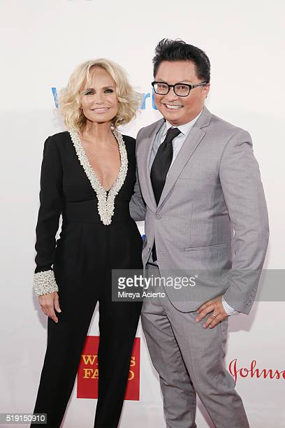 Actors Kristin Chenoweth and Alec Mapa attend the PFLAG National's Eighth Annual Straight for Equality Awards Gala at The New York Marriott Marquis...