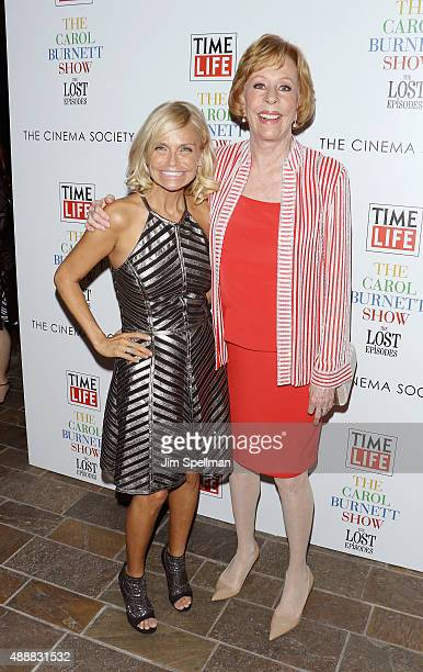 """Actors Kristin Chenoweth and Carol Burnett attend """"The Carol Burnett Show: The Lost Episodes"""" screening hosted by Time Life and The Cinema Society at..."""