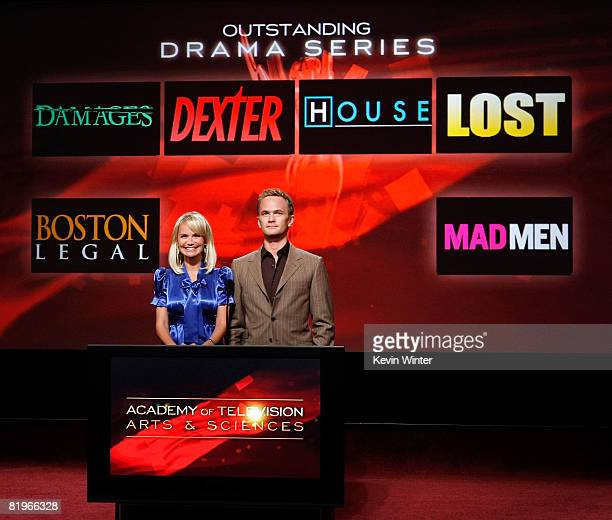 Actors Kristin Chenoweth And Neil Patrick Harris Announce The Nominees For Outstanding Drama Series At