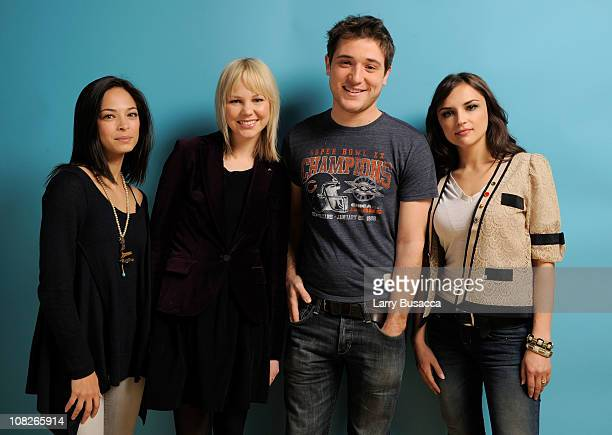 Actors Kristin Kreuk, Adelaide Clemens, Trevor Morgan and Rachael Leigh Cook pose for a portrait during the 2011 Sundance Film Festival at The...