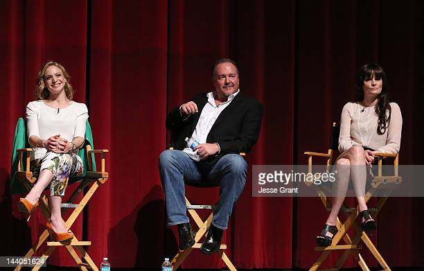Actors Kristin Lehman Brent Sexton and Jamie Anne Allman attend 'The Killing' ATAS Screening and Panel at the Leonard H Goldenson Theatre on May 8...