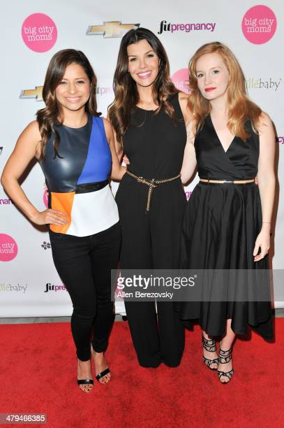 """Actors Kristina Guerrero, Ali Landry and Kimberly Van Der Beek attend Big City Moms """"The Biggest Baby Shower Ever!"""" event at Skirball Cultural Center..."""
