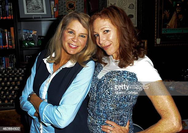 Actors Kristine DeBell and Lisa London at the Second Annual David DeCoteau's Day Of The Scream Queens held at Dark Delicacies Bookstore on January...
