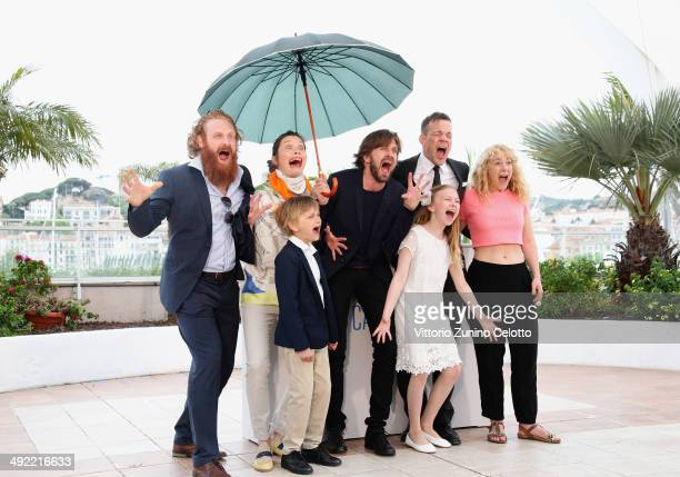 Actors Kristofer Hivju Lisa Loven Kongsli Vincent Wettergren director Ruben Ostlund actors Johannes Bah Kuhnke Clara Wettergren and guest attend the...