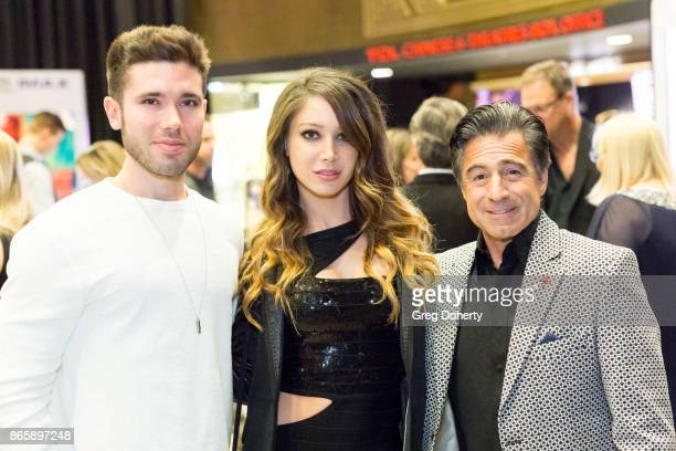 Actors Kristos Andrews Celeste Fianna and Anthony Aquilino attend the Cast Premiere Screening Of Lany Entertainment's 'The Bay' Season 3 at TCL...