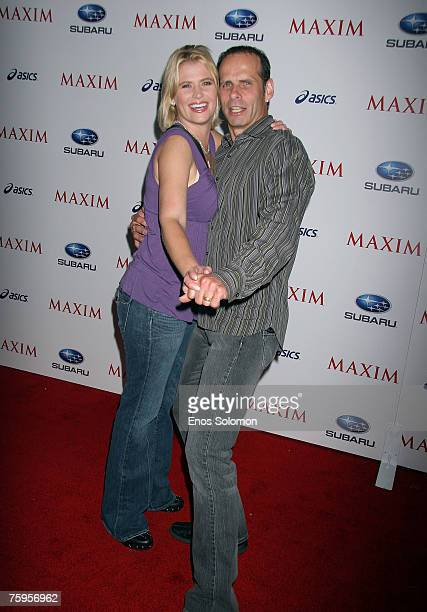 Actors Kristy Swanson and Lloyd Eisler attends MAXIM Magazine's ICU Celebration of Extreme Sports at Area on August 2 2007 in West Hollywood...