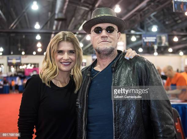 Actors Kristy Swanson and Michael Rooker attend Wizard World Comic Con Philadelphia 2017 - Day 2 at Pennsylvania Convention Center on June 2, 2017 in...