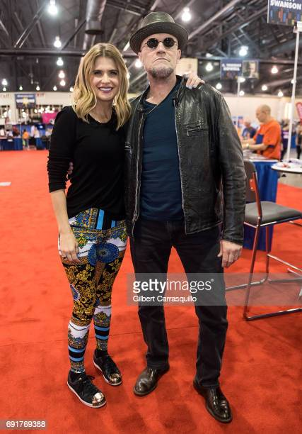 Actors Kristy Swanson and Michael Rooker attend Wizard World Comic Con Philadelphia 2017 Day 2 at Pennsylvania Convention Center on June 2 2017 in...