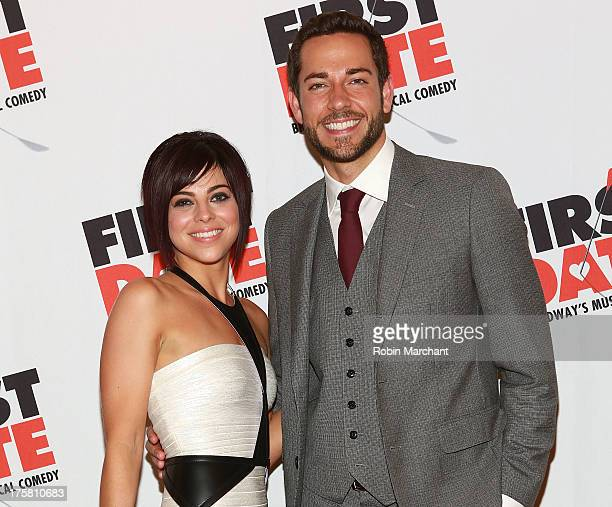 Actors Krysta Rodriguez and Zachary Levi attend First Date Broadway Opening Night at Gotham Hall on August 8 2013 in New York City
