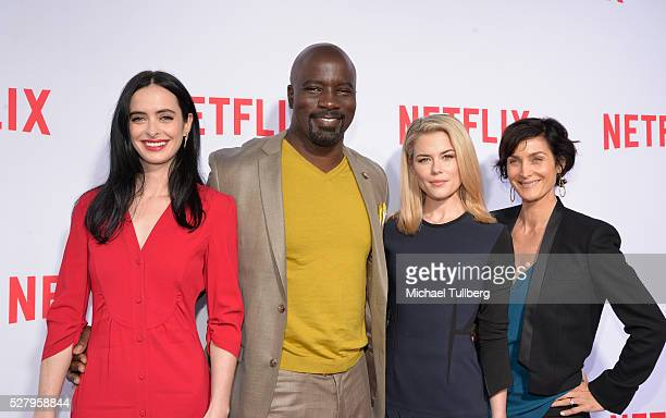 Actors Krysten Ritter Mike Colter Rachael Taylor and CarrieAnne Moss attend a For Your Consideration screening and QA for the Netflix Original...