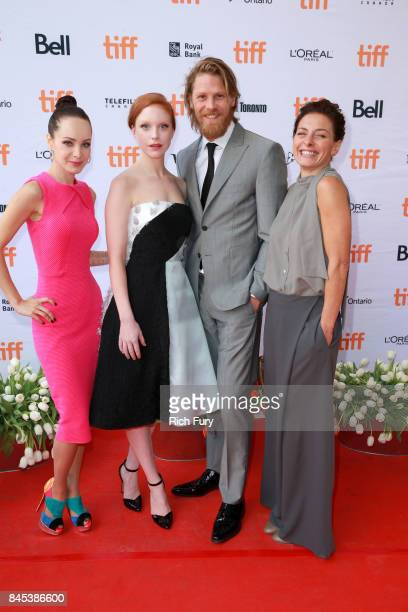 Actors Ksenia Solo Anneke Sluiters Gijs Naber and Lidia Vitale attend the Tulipani Love Honour and a Bicycle premiere during the 2017 Toronto...