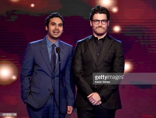 Actors Kunal Nayyar and Adam Pally speak onstage during the 4th Annual Critics' Choice Television Awards at The Beverly Hilton Hotel on June 19 2014...
