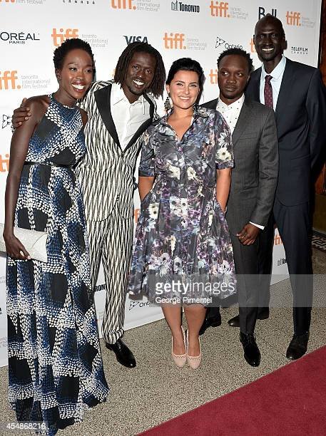 Actors Kuoth Wiel Emmauel Jal Nelly Furtado Arnold Oceng and Ger Duany attend The Good Lie premiere during the 2014 Toronto International Film...