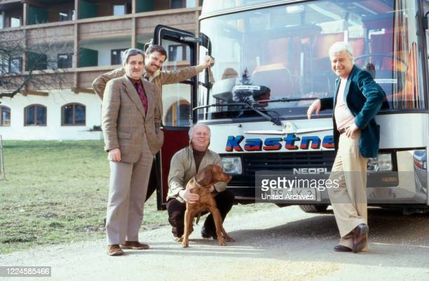 Actors Kurt Jaggberg, Carlos Placha, Karl Heinz Thomas and Michael Cramer, Germany, 1970s.