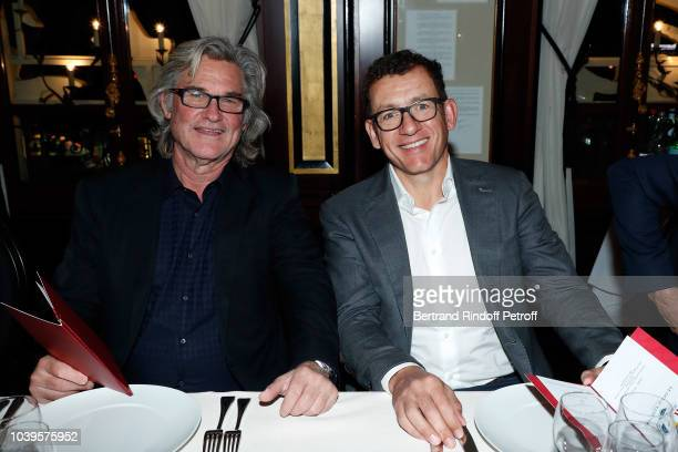Actors Kurt Russel and Dany Boon attend 'Ryder Cup Dinner' at Fouquet's Barriere on September 24 2018 in Paris France