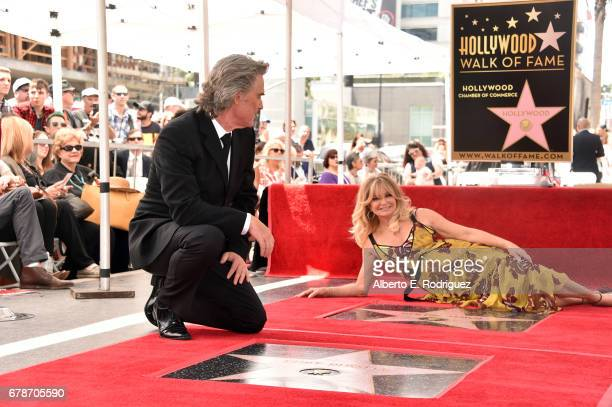Actors Kurt Russell and Goldie Hawn are honored with a double star ceremony on the Hollywood Walk of Fame on May 4 2017 in Hollywood California