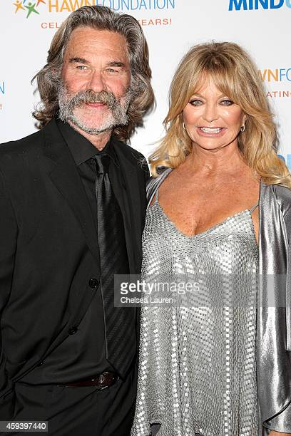 Actors Kurt Russell and Goldie Hawn arrive at Goldie Hawn's inaugural Love In For Kids benefiting the Hawn Foundation's MindUp program at Ron...
