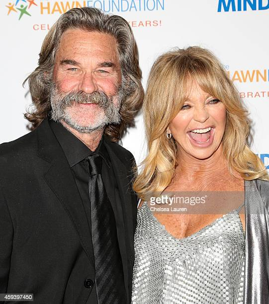 Actors Kurt Russell and Goldie Hawn arrive at Goldie Hawn's inaugural 'Love In For Kids' benefiting the Hawn Foundation's MindUp program at Ron...