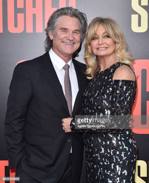 Actors Kurt Russell and Goldie Hawn arrive at the premiere of 20th Century Fox's 'Snatched' at Regency Village Theatre on May 10 2017 in Westwood...