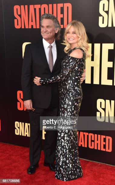 """Actors Kurt Russell and Goldie Hawn attend the premiere of 20th Century Fox's """"Snatched"""" at Regency Village Theatre on May 10, 2017 in Westwood,..."""