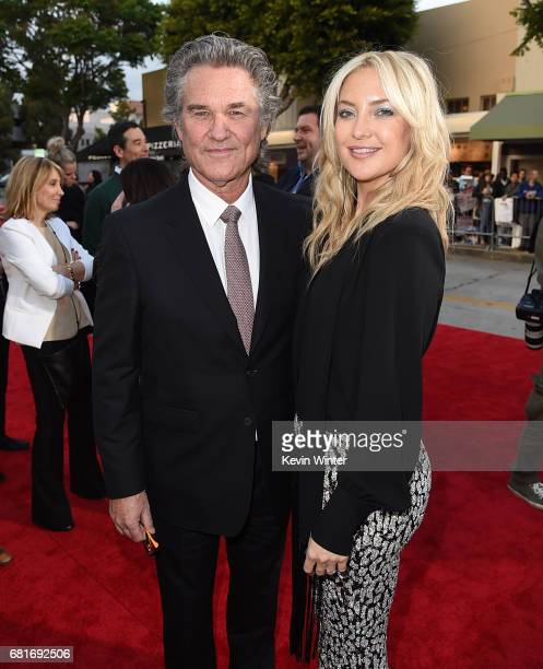 """Actors Kurt Russell and Kate Hudson attends the premiere of 20th Century Fox's """"Snatched"""" at Regency Village Theatre on May 10, 2017 in Westwood,..."""