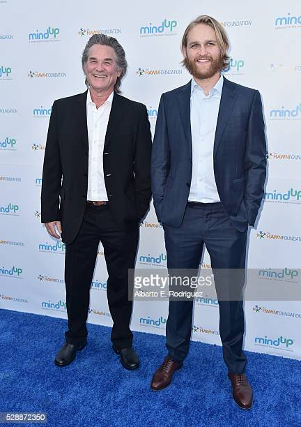 Actors Kurt Russell and Wyatt Russell attend Goldie Hawn's Annual Goldie's Love In For Kids on May 06, 2016 in Beverly Hills, California.
