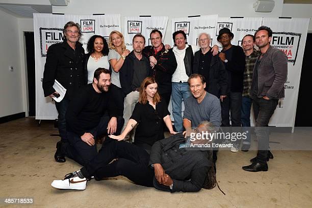 Actors Kurt Russell Dana Gourrier Zoe Bell and Tim Roth director Quentin Tarantino and actors Michael Madsen Bruce Dern Samuel L Jackson James Parks...