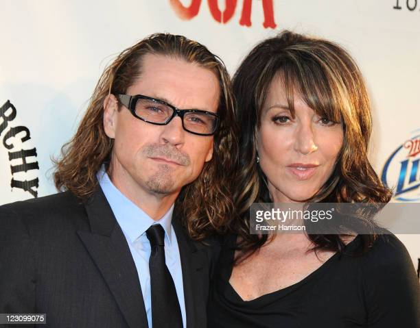 Actors Kurt Sutter Katey Sagal arrive at the Screening of FX's Sons Of Anarchy Season 4 Premiere at ArcLight Cinemas Cinerama Dome on August 30 2011...