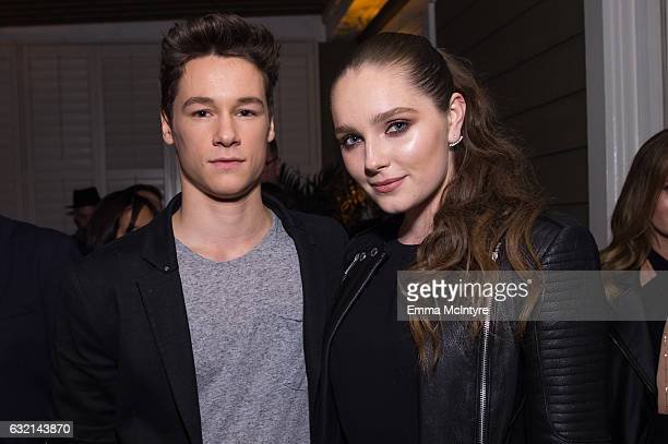 Actors Kyle Allen and Amy Forsyth attend the after party for the premiere of Hulu's 'The Path' Season 2 at Sundance Sunset Cinema on January 19 2017...