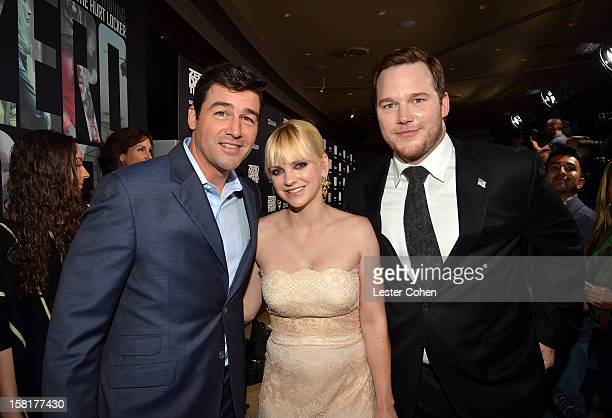 Actors Kyle Chandler Anna Faris and Chris Pratt attend the 'Zero Dark Thirty' Los Angeles Premiere at Dolby Theatre on December 10 2012 in Hollywood...