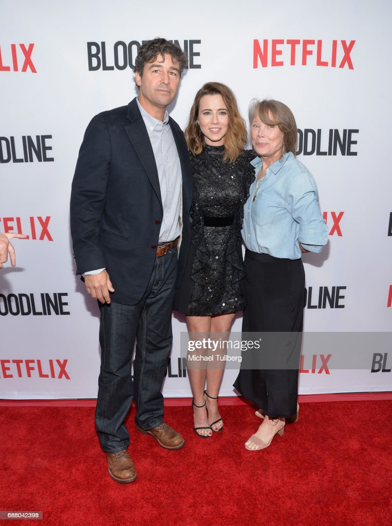 Actors Kyle Chandler, Linda Cardellini and Sissy Spacek attend the Los Angeles premiere of Netflix's 'Bloodline' Season 3 at Arclight Cinemas Culver City on May 24, 2017 in Culver City, California.