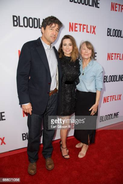 Actors Kyle Chandler Linda Cardellini and Sissy Spacek attend the Premiere Of Netflix's Bloodline Season 3 at Arclight Cinemas Culver City on May 24...
