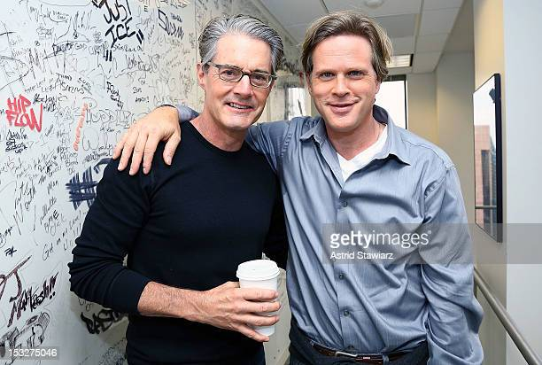 Actors Kyle MacLachlan and Cary Elwes visit SiriusXM Studios on October 2 2012 in New York City