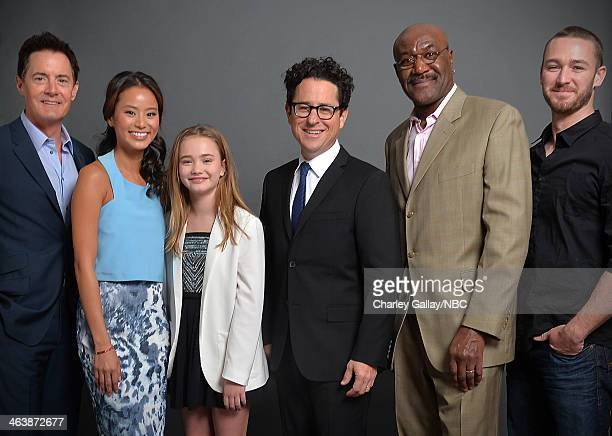 Actors Kyle MacLachlan Jamie Chung Johnny Sequoyah producer JJ Abrams actors Delroy Lindo and Jake McLaughlin attend the 2014 NBCUniversal TCA Winter...
