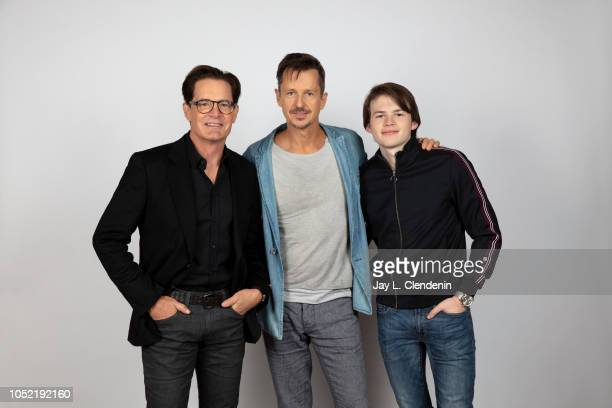 Actors Kyle MacLachlan writer/director Keith Behrman and Josh Wiggins from 'Giant Little Ones' are photographed for Los Angeles Times on September 9...
