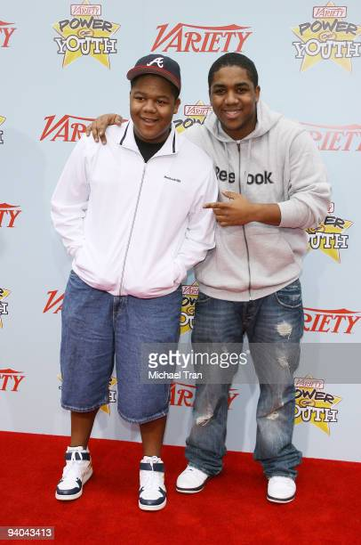 Actors Kyle Massey and Christopher Massey arrive to Variety's 3rd Annual Power of Youth event held at the Paramount Studios backlot on December 5...