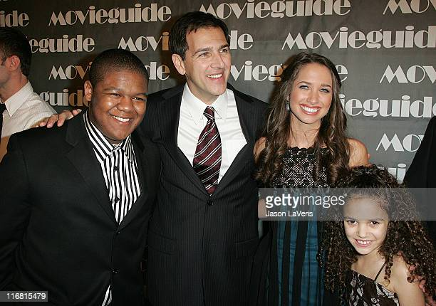Actors Kyle Massy John D'Aquino Maiara Walsh and Madison Pettis attend the 16th Annual Movieguide Awards at the Beverly Hilton Hotel on February 12...