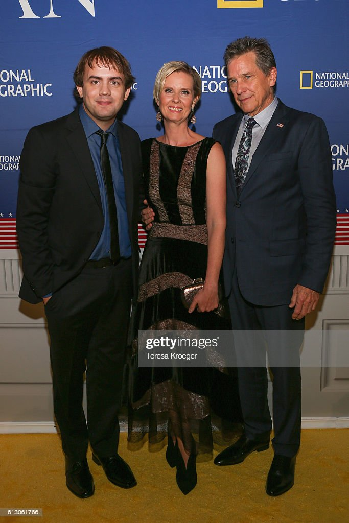 Actors Kyle S. More, Cynthia Nixon, and Tim Matheson attend the 'Killing Reagan' Washington DC premiere at The Newseum on October 6, 2016 in Washington, DC.